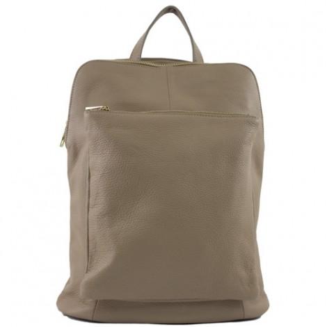 Rucsac din piele naturala ce poate fi transformat in geanta de umar. Rucsac grej